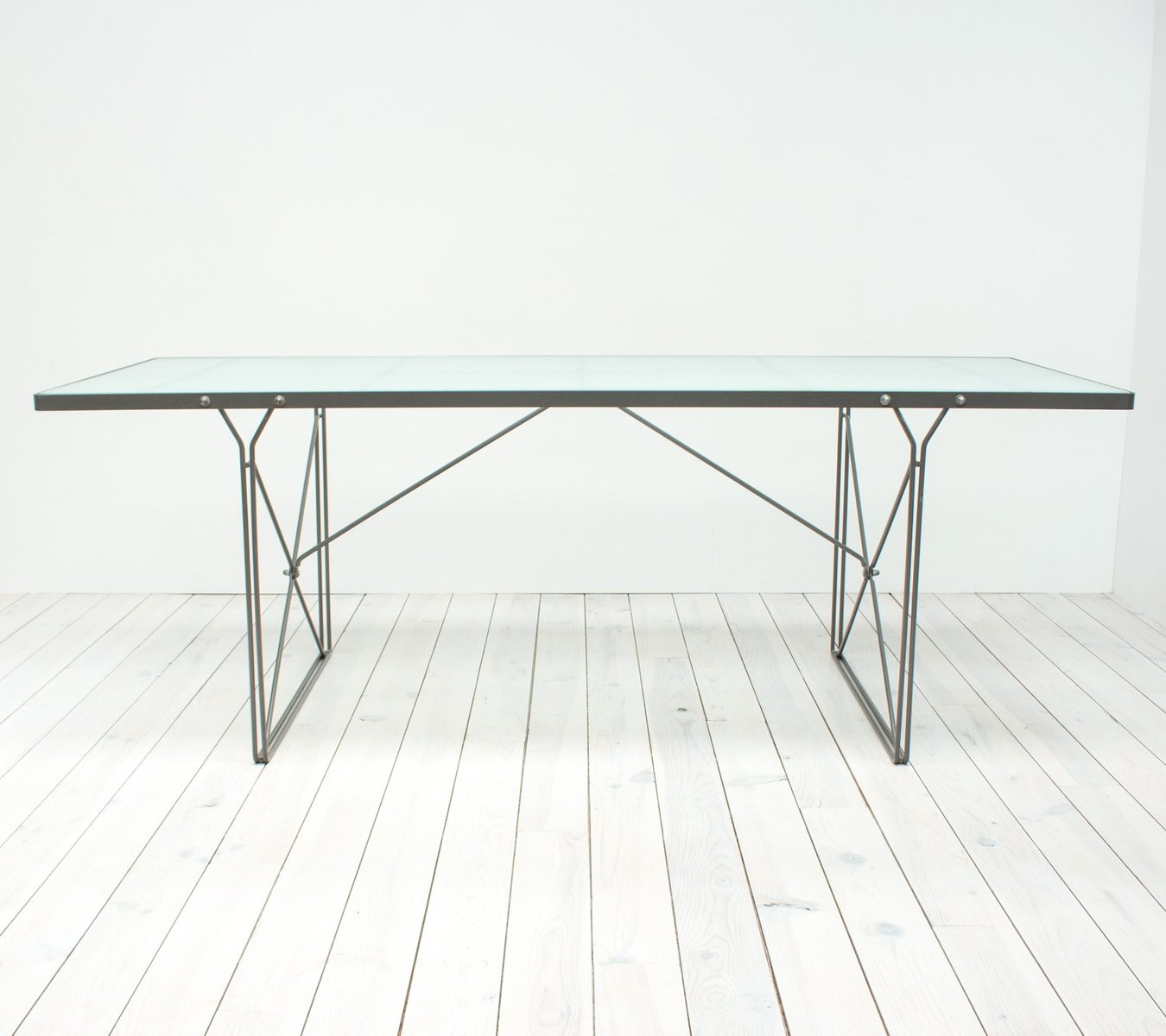 Moment Glass Dining Table By Niels Gammelgaard For Ikea 1987
