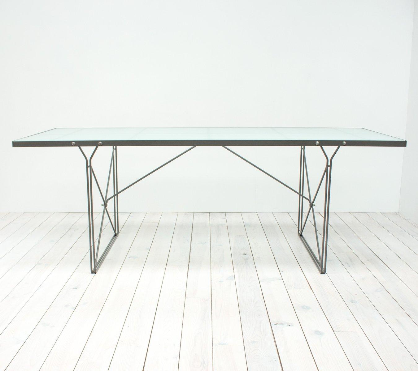 Table de salle manger moment en verre par niels gammelgaard pour ikea 1987 en vente sur pamono - Table a manger en verre ikea ...