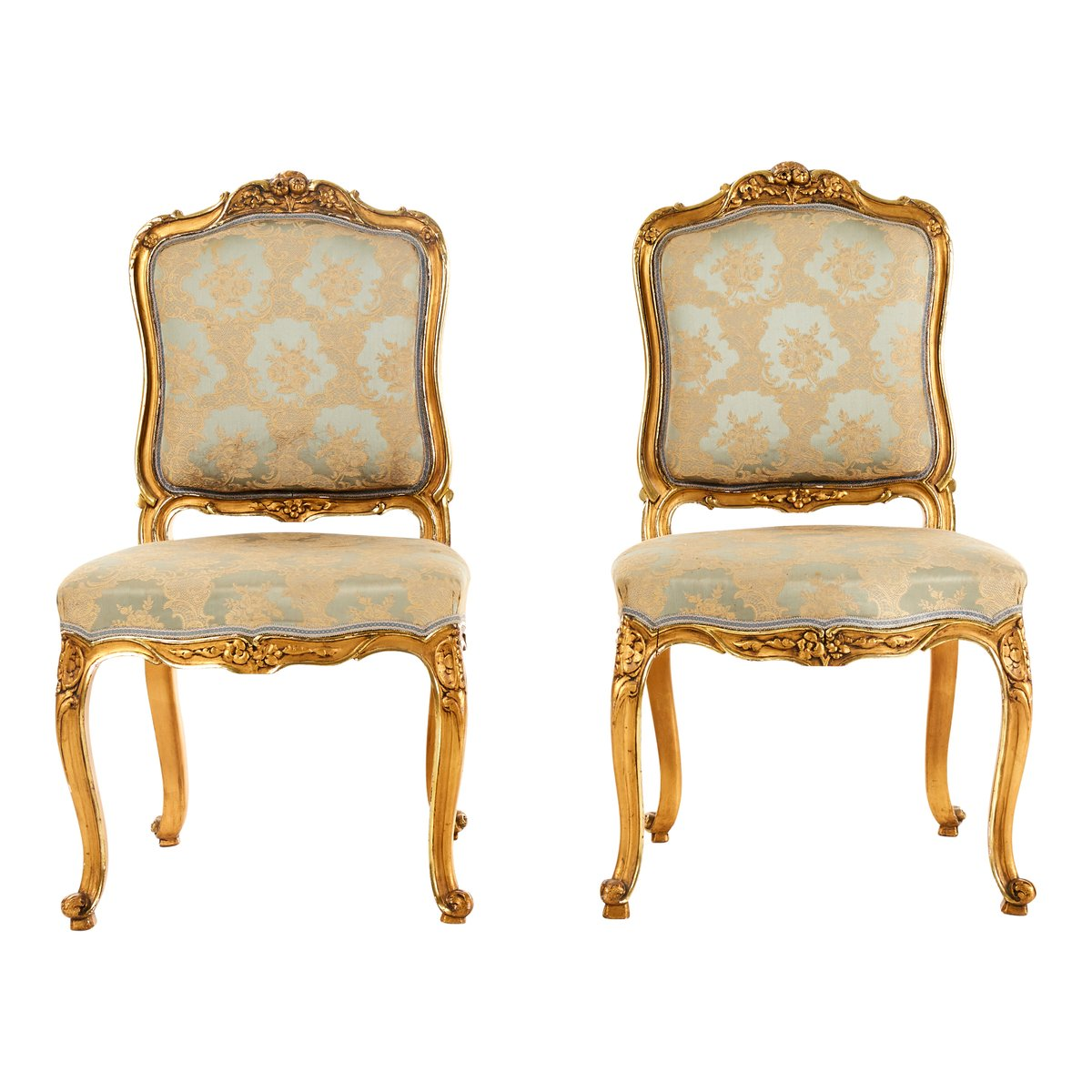 Antique Louis XV Style Chairs, Set Of 2