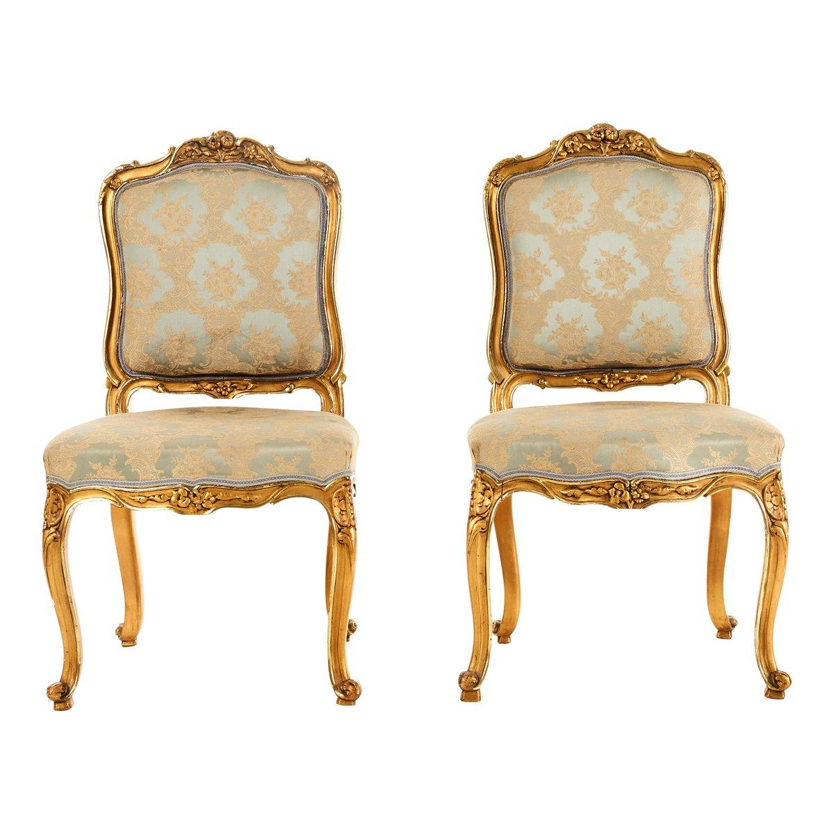 Chaises Antiques Style Louis XV, Set de 2 en vente sur Pamono