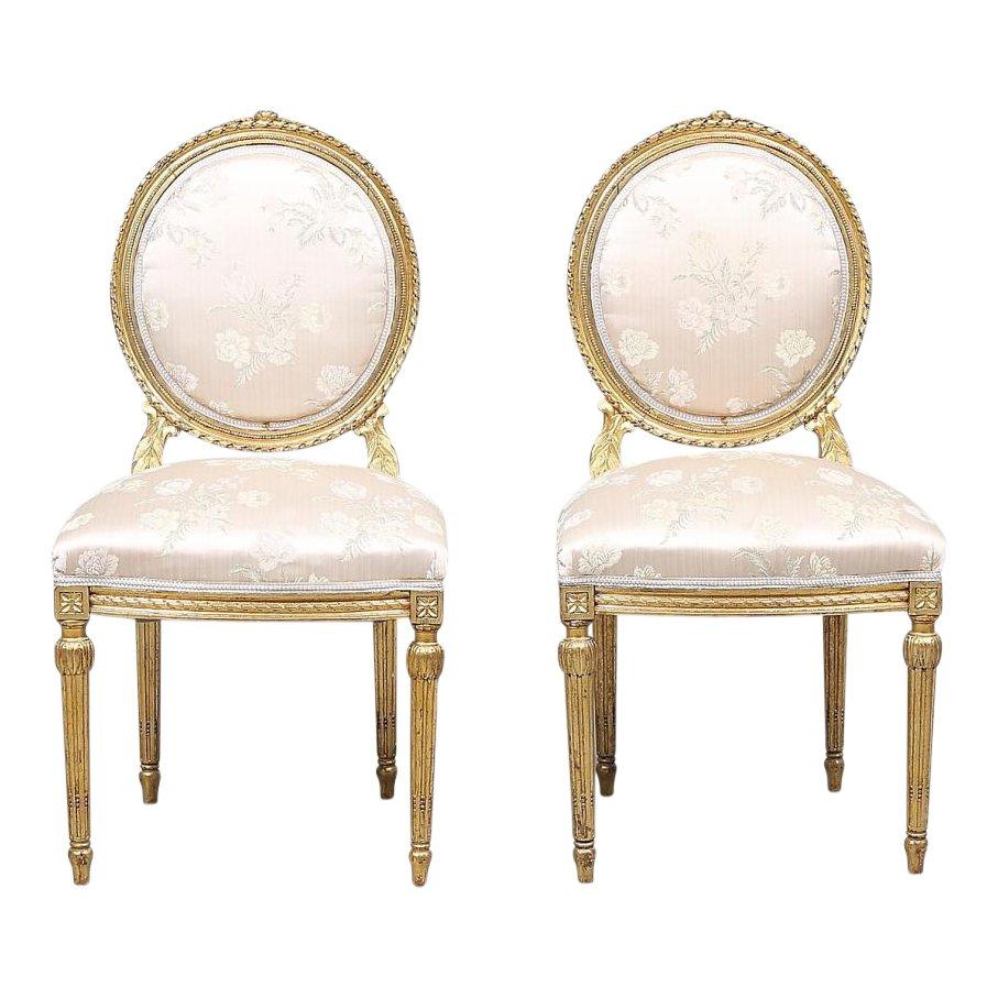 Chaises Antiques Style Louis Xvi Set De 2 En Vente Sur Pamono