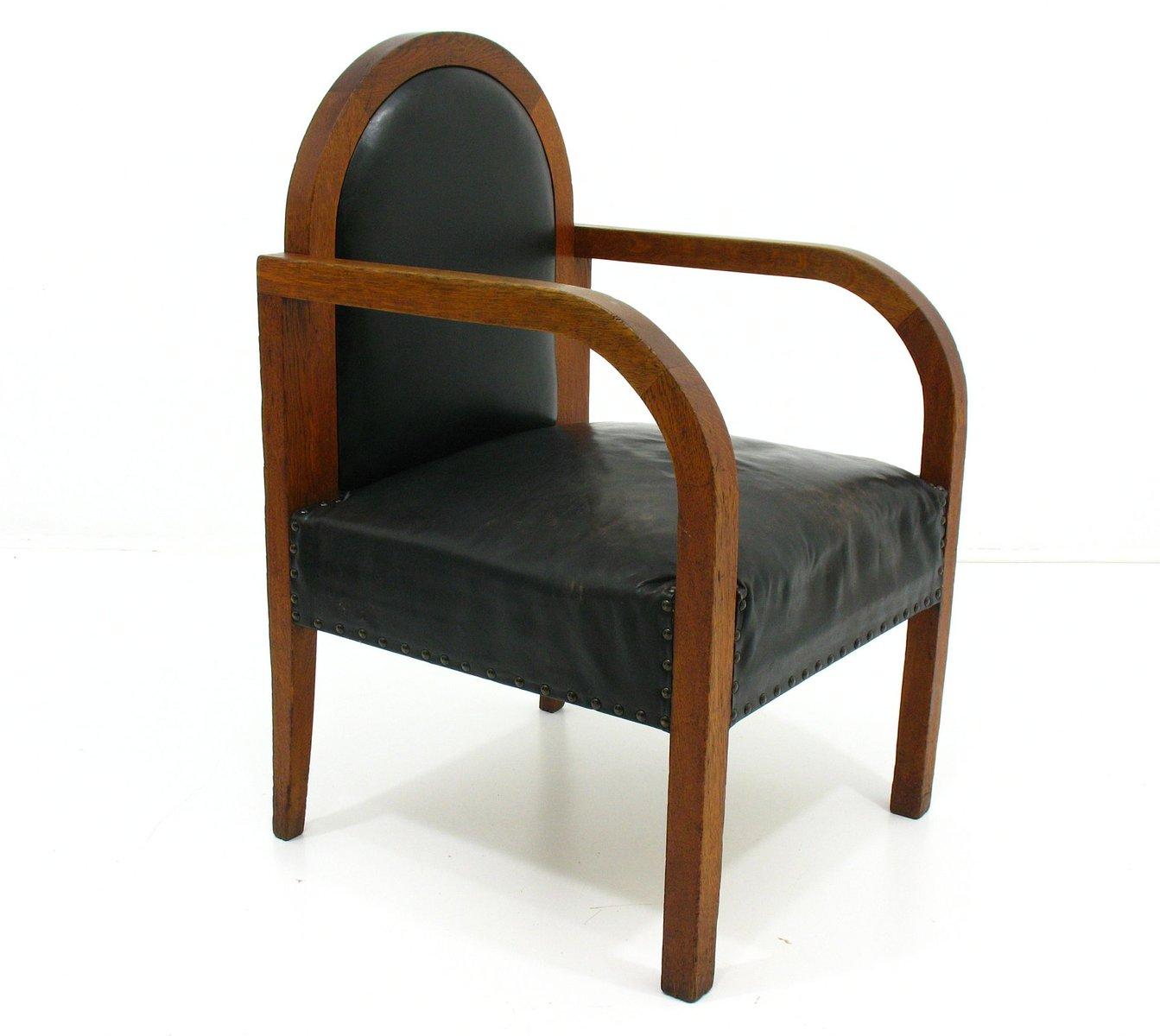 vintage sessel aus holz leder bei pamono kaufen. Black Bedroom Furniture Sets. Home Design Ideas