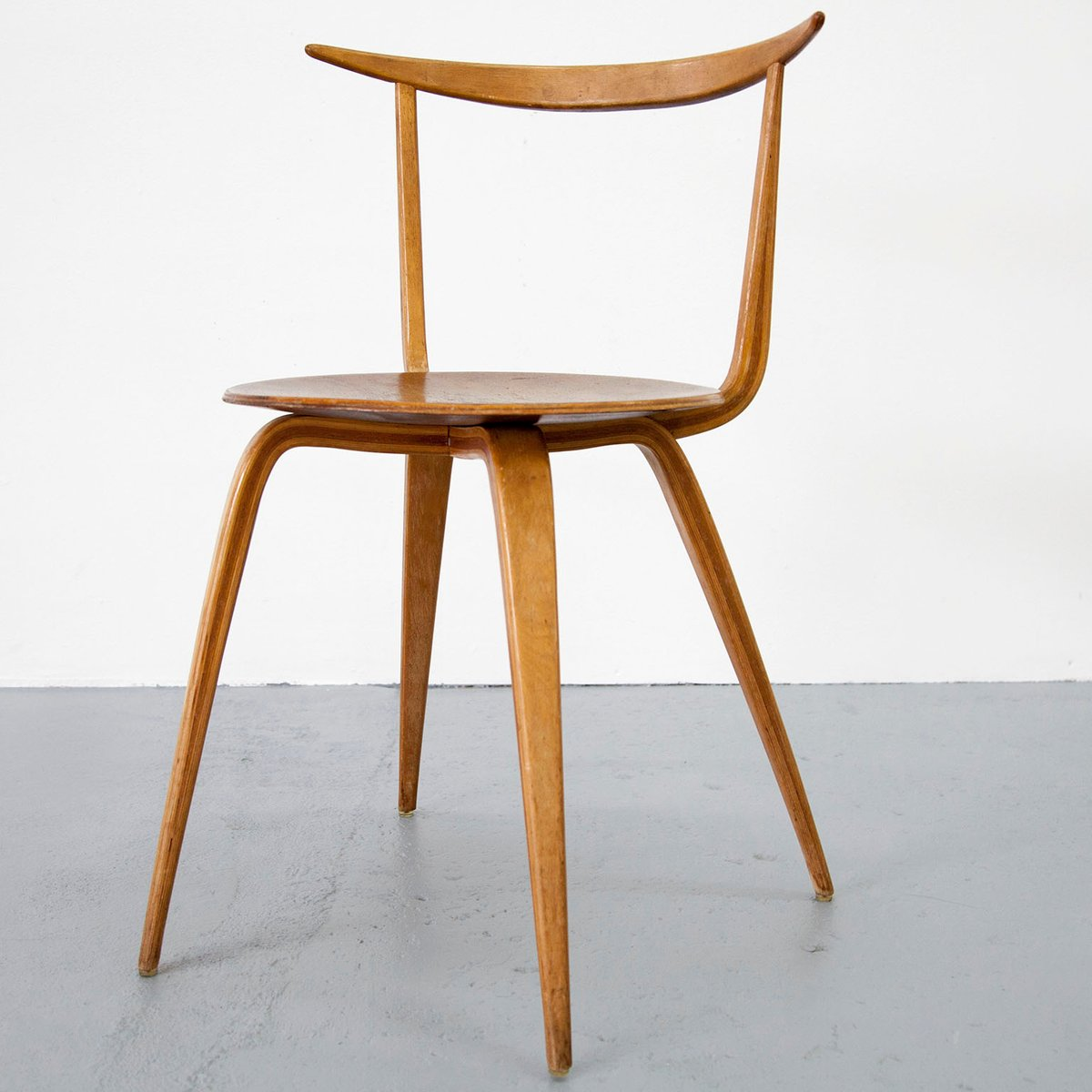 Early Version Pretzel Chair By George Nelson, 1950s For Sale At Pamono