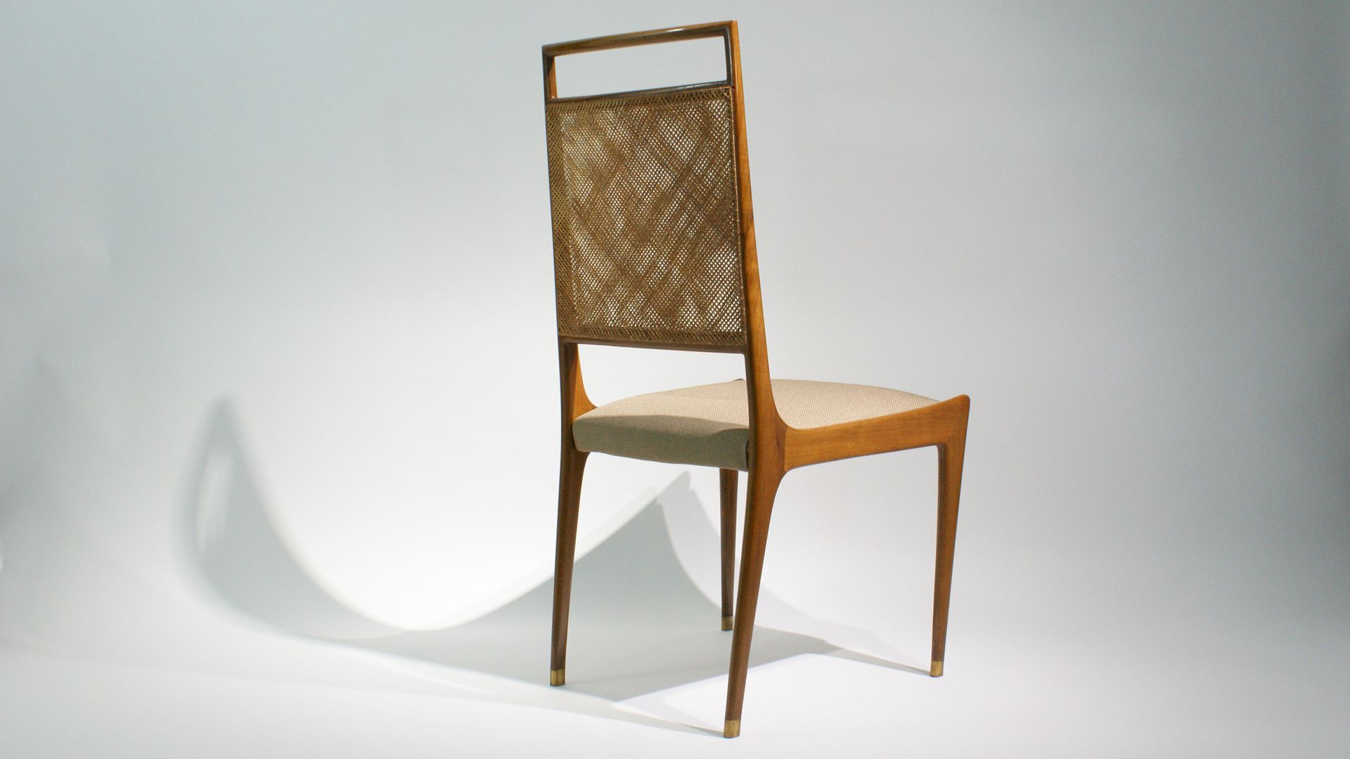 franz sische st hle aus palisander korbgeflecht 1950er. Black Bedroom Furniture Sets. Home Design Ideas