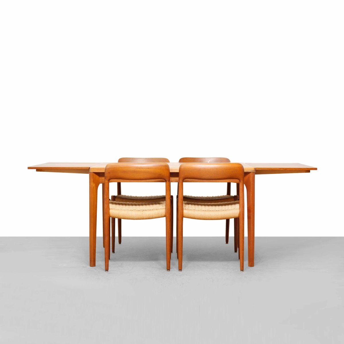 Danish Modern Teak Dining Table by Henning Kj230rnulf for  : danish modern teak dining table by henning kjaernulf for vejle 1960s 3 from www.pamono.eu size 1200 x 1200 jpeg 45kB