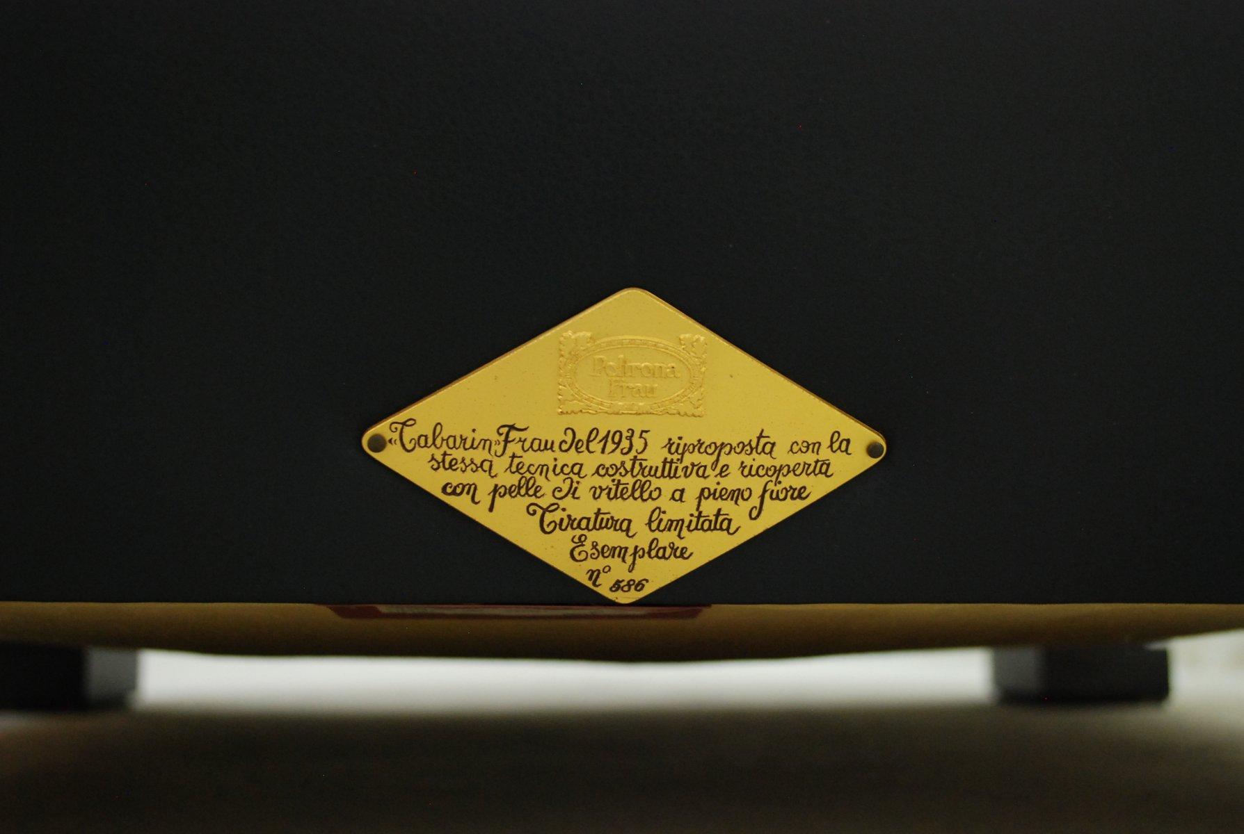 Italian Tabarin Leather Armchair From Poltrona Frau 1985