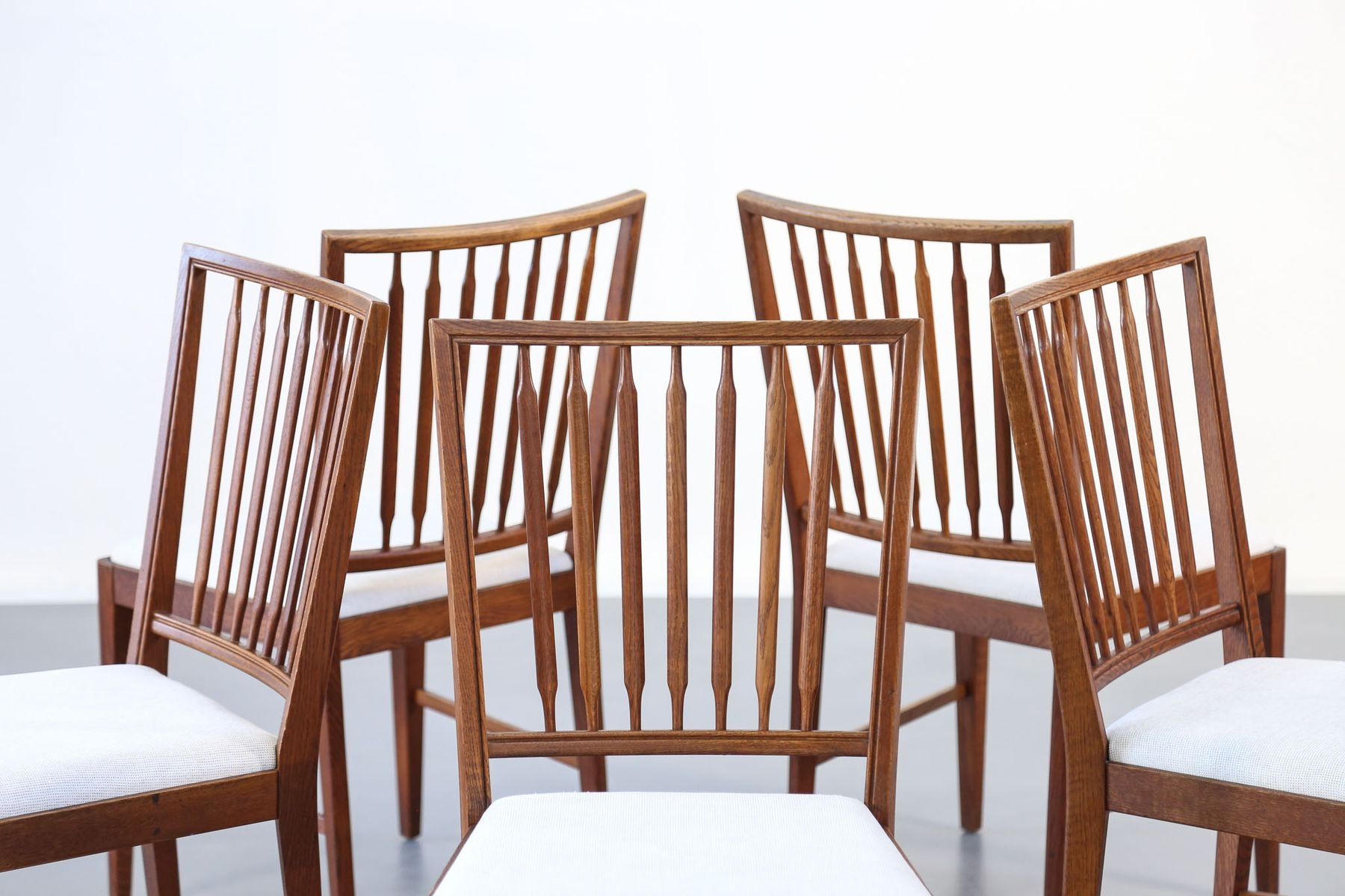 skandinavische st hle aus teak 1960er 5er set bei pamono kaufen. Black Bedroom Furniture Sets. Home Design Ideas