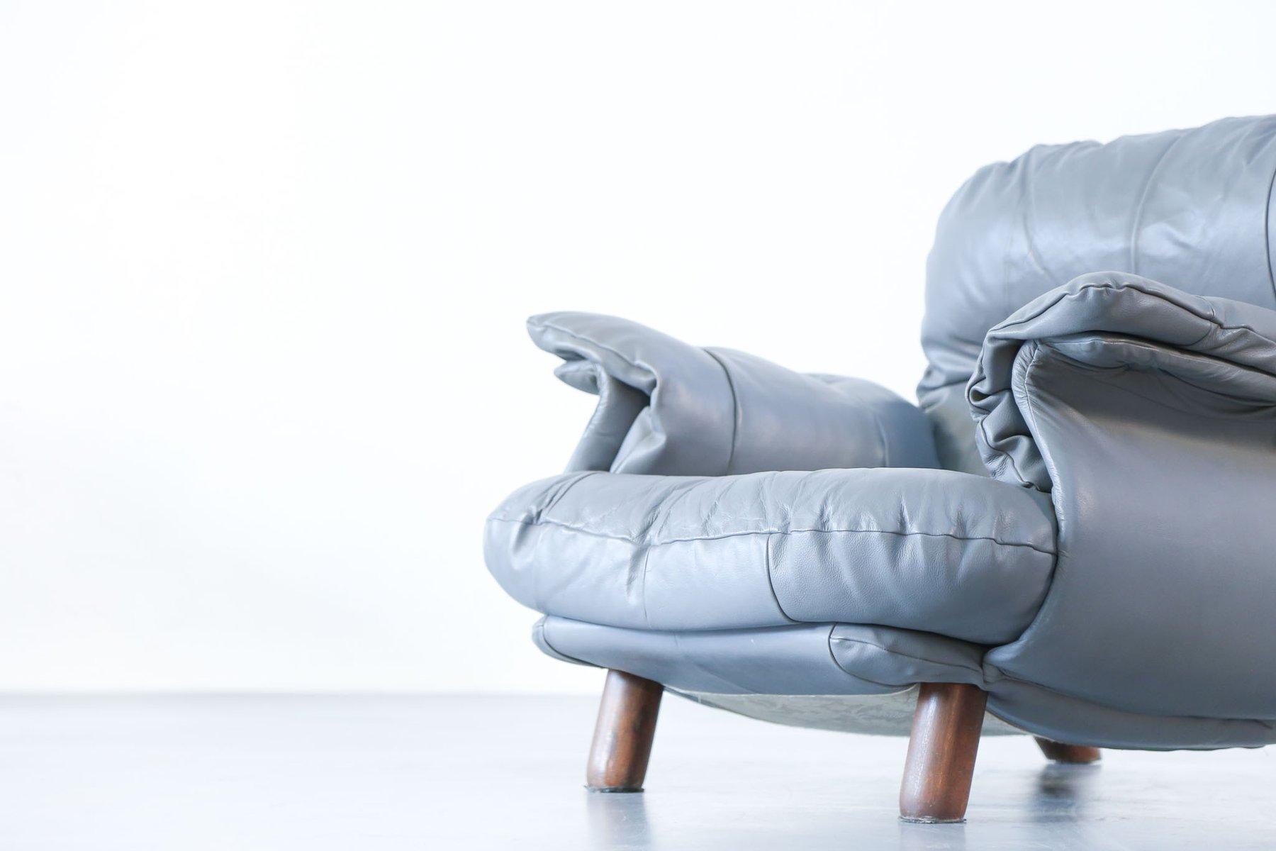 Vintage Leder Sessel, 2er Set bei Pamono kaufen