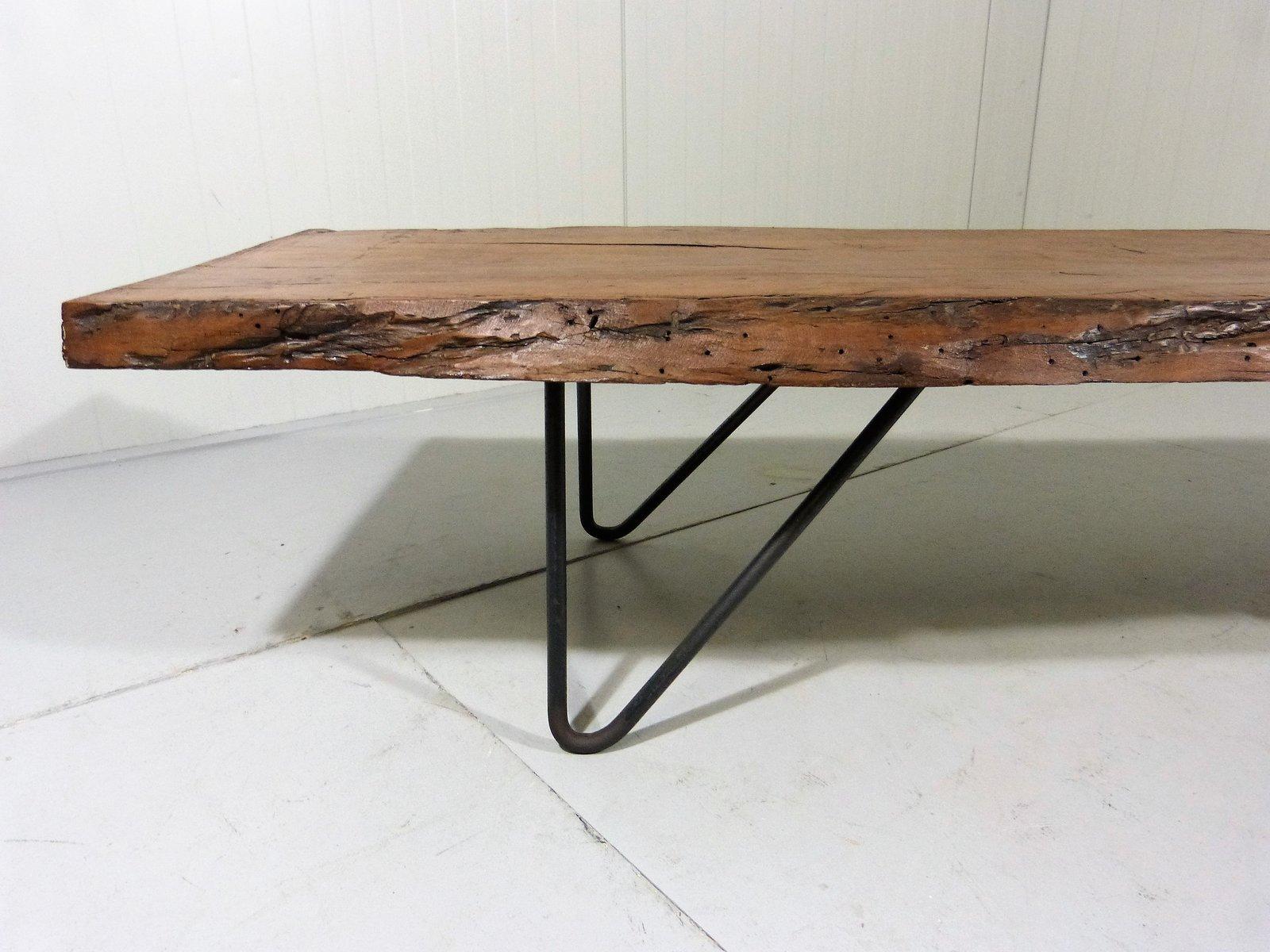 gro er upcycelter vintage baumstamm couchtisch bei pamono kaufen. Black Bedroom Furniture Sets. Home Design Ideas