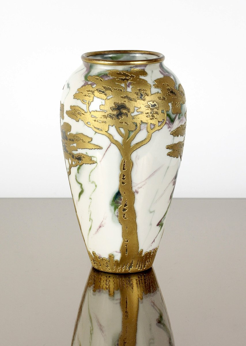 Art Nouveau Vase From Gebr 252 Der Heubach For Sale At Pamono