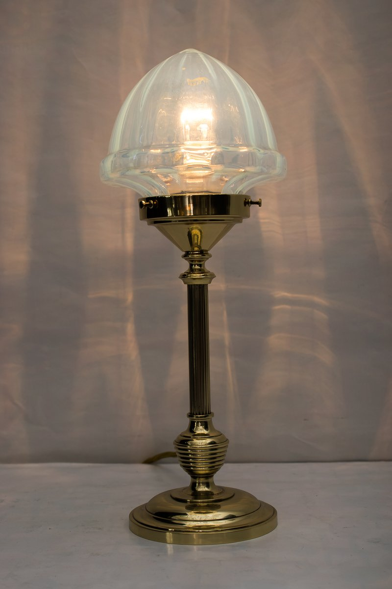 Art deco table lamp with opaline glass shade 1920s for sale at pamono art deco table lamp with opaline glass shade 1920s 3 105600 price per piece mozeypictures Image collections