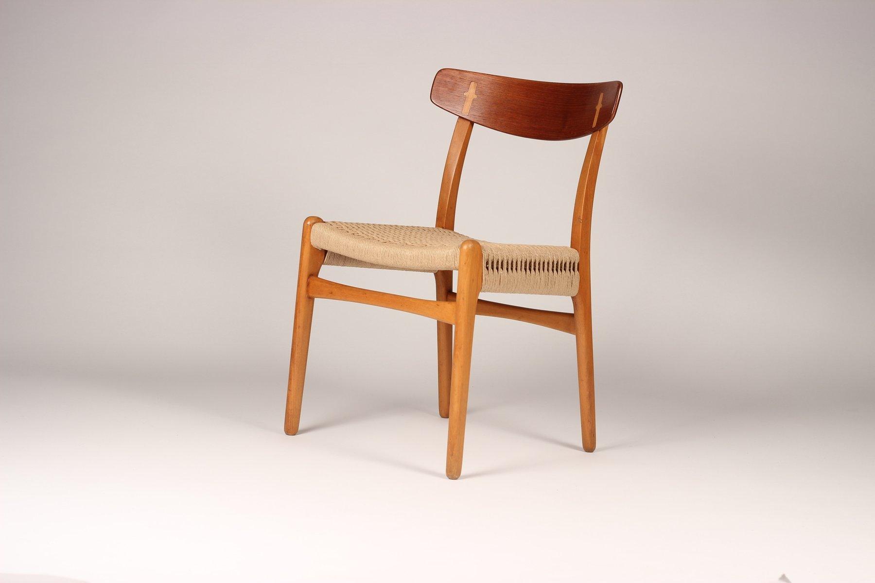 mid century ch23 stuhl von hans wegner f r carl hansen son bei pamono kaufen. Black Bedroom Furniture Sets. Home Design Ideas