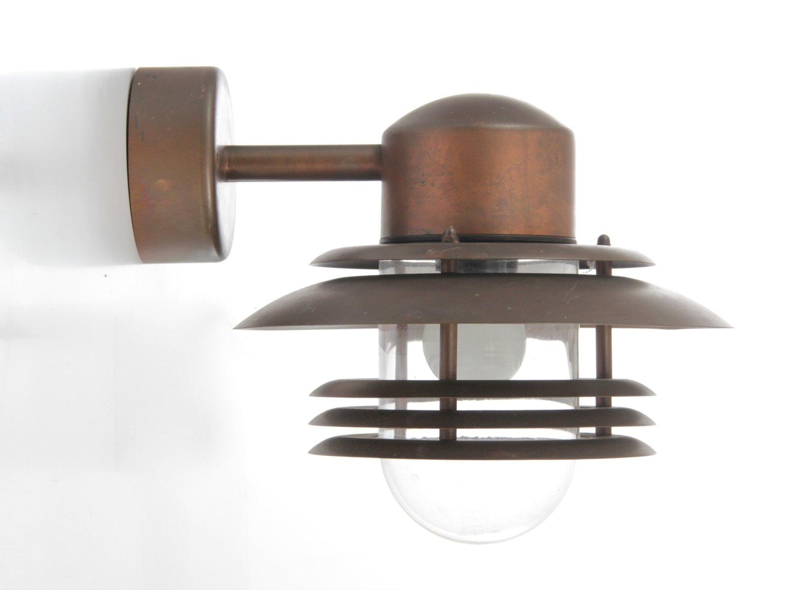 au en wandlampe aus kupfer 1980er bei pamono kaufen. Black Bedroom Furniture Sets. Home Design Ideas