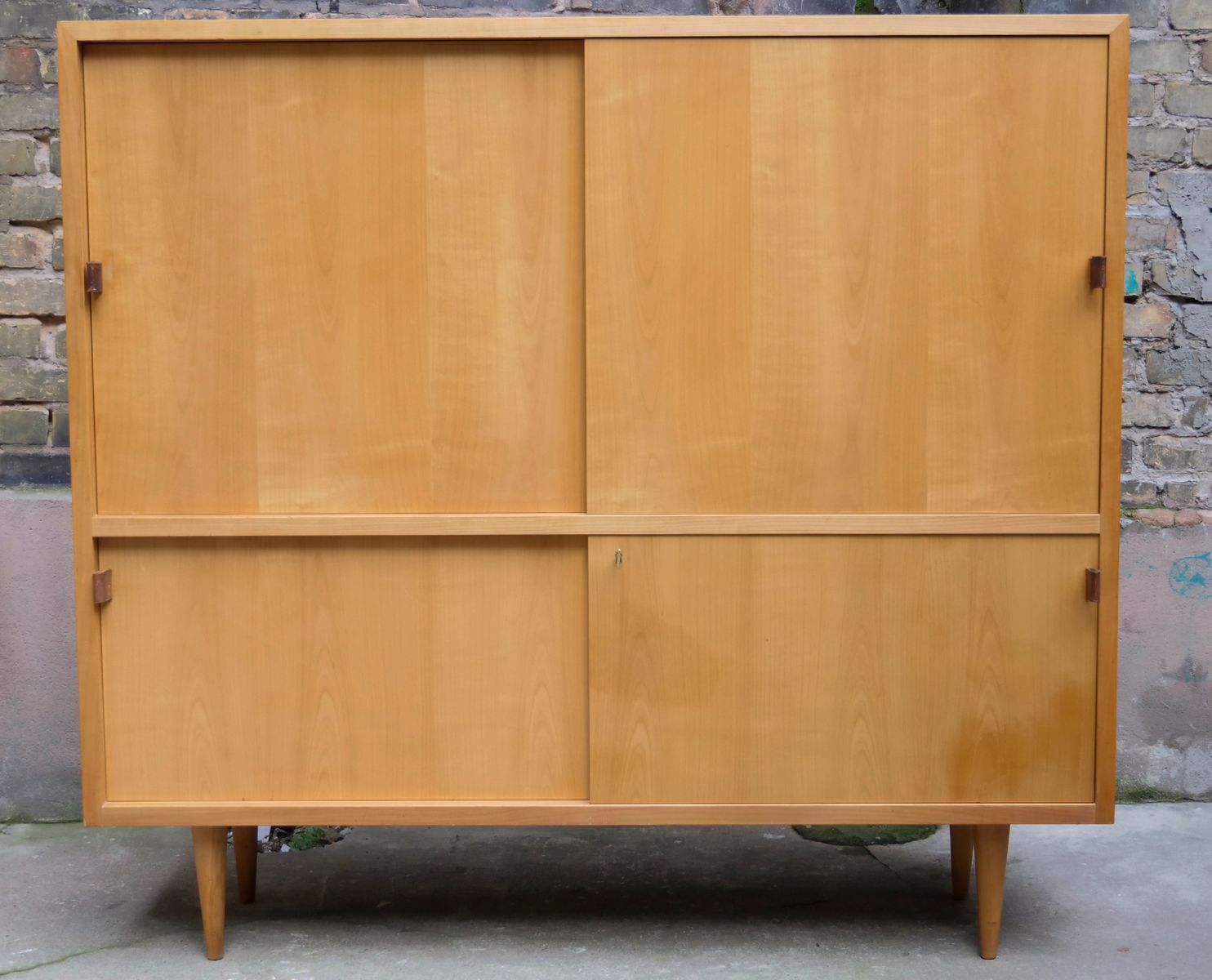 mid century highboard in cherry veneer from wk m bel for sale at pamono. Black Bedroom Furniture Sets. Home Design Ideas
