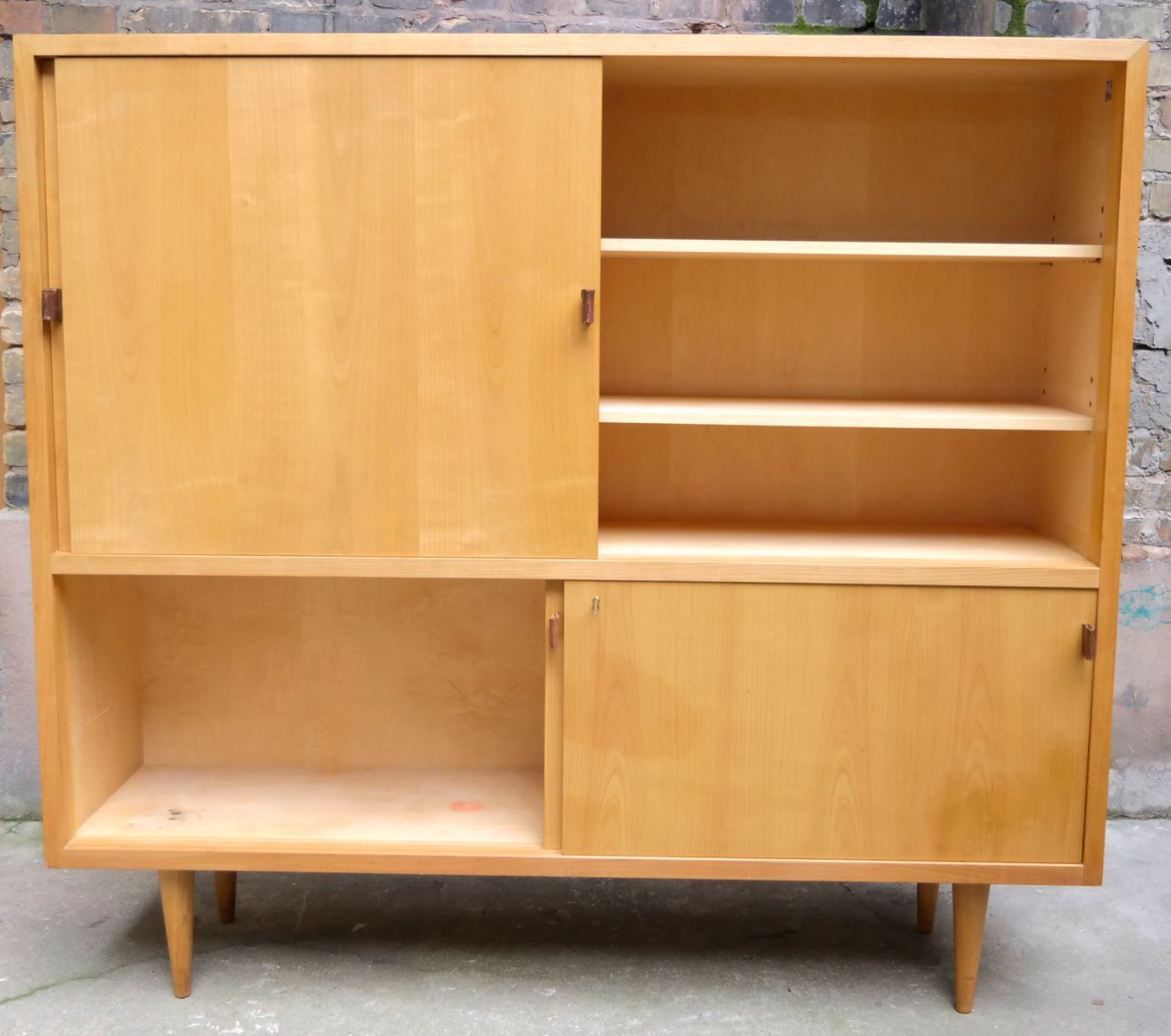 mid century highboard in cherry veneer from wk m bel for. Black Bedroom Furniture Sets. Home Design Ideas