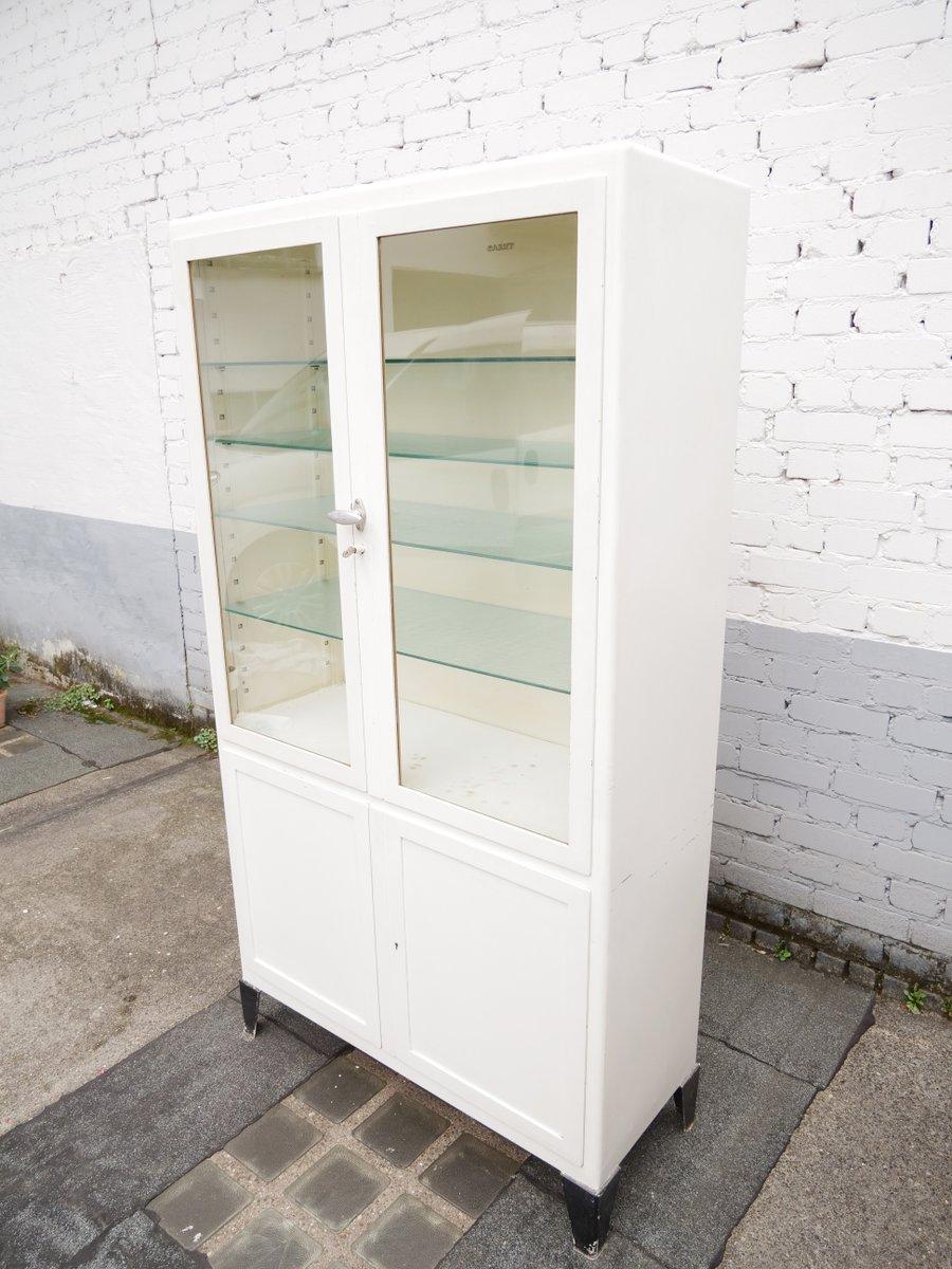 vinatge arzt schrank aus metall und glas von garny bei pamono kaufen. Black Bedroom Furniture Sets. Home Design Ideas
