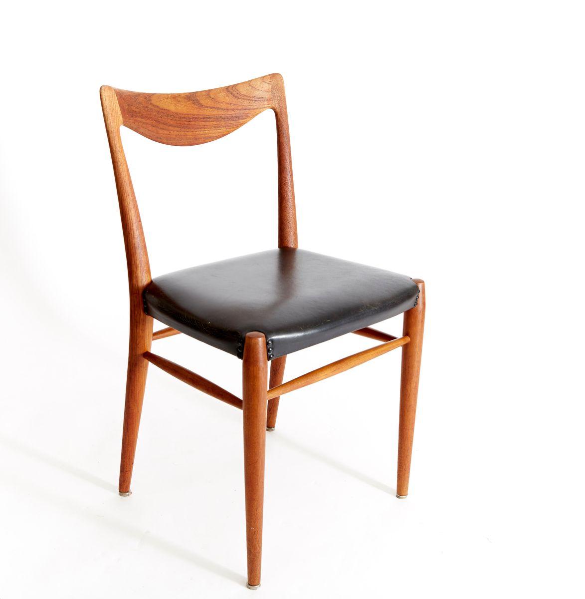 vintage bambi teak esszimmer st hle von rolf rastad adolf relling f r gustav bahus 4er set. Black Bedroom Furniture Sets. Home Design Ideas