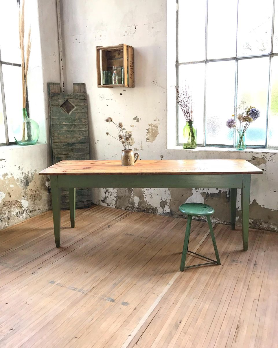 Mid-Century Farmhouse Pine Table For Sale At Pamono