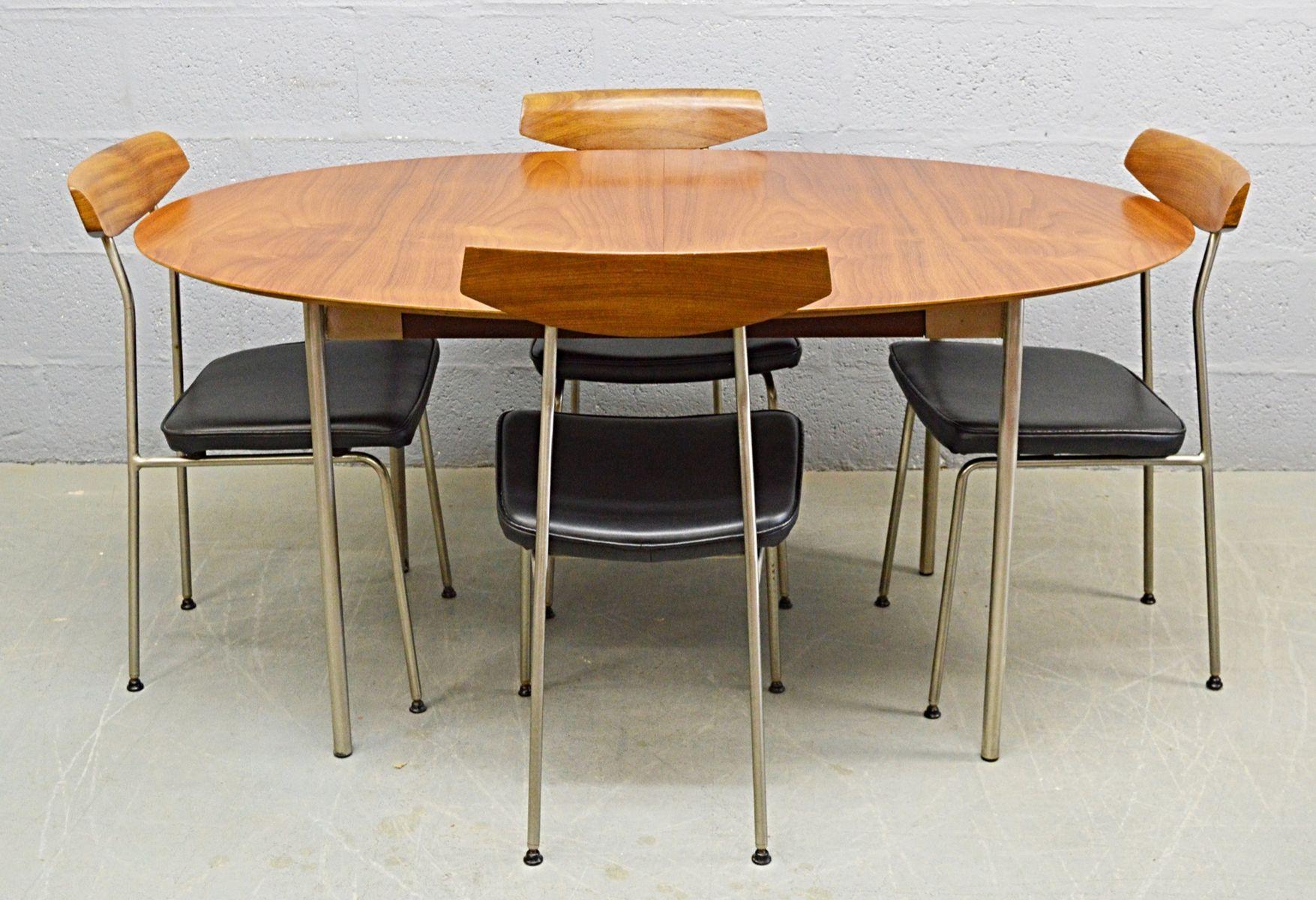 mid century tisch und st hle aus teak stahl von john sylvia reid f r stag bei pamono kaufen. Black Bedroom Furniture Sets. Home Design Ideas