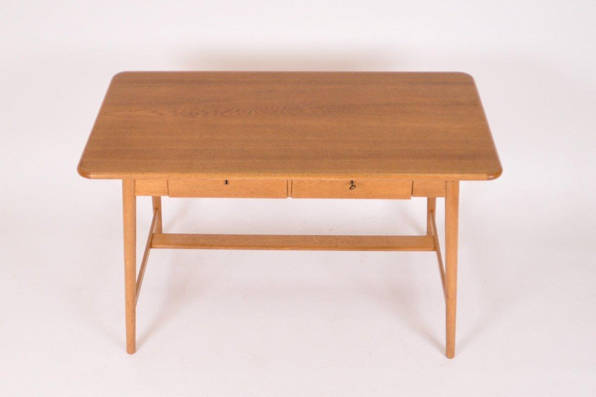schreibtisch aus eiche 1960er bei pamono kaufen. Black Bedroom Furniture Sets. Home Design Ideas