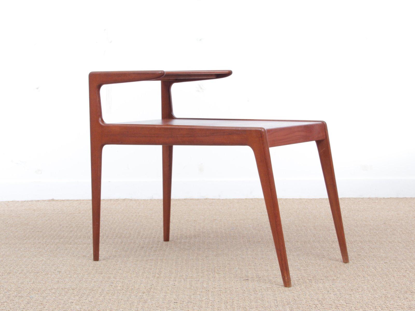 teak beistelltisch von kurt stervig 1960er bei pamono kaufen. Black Bedroom Furniture Sets. Home Design Ideas