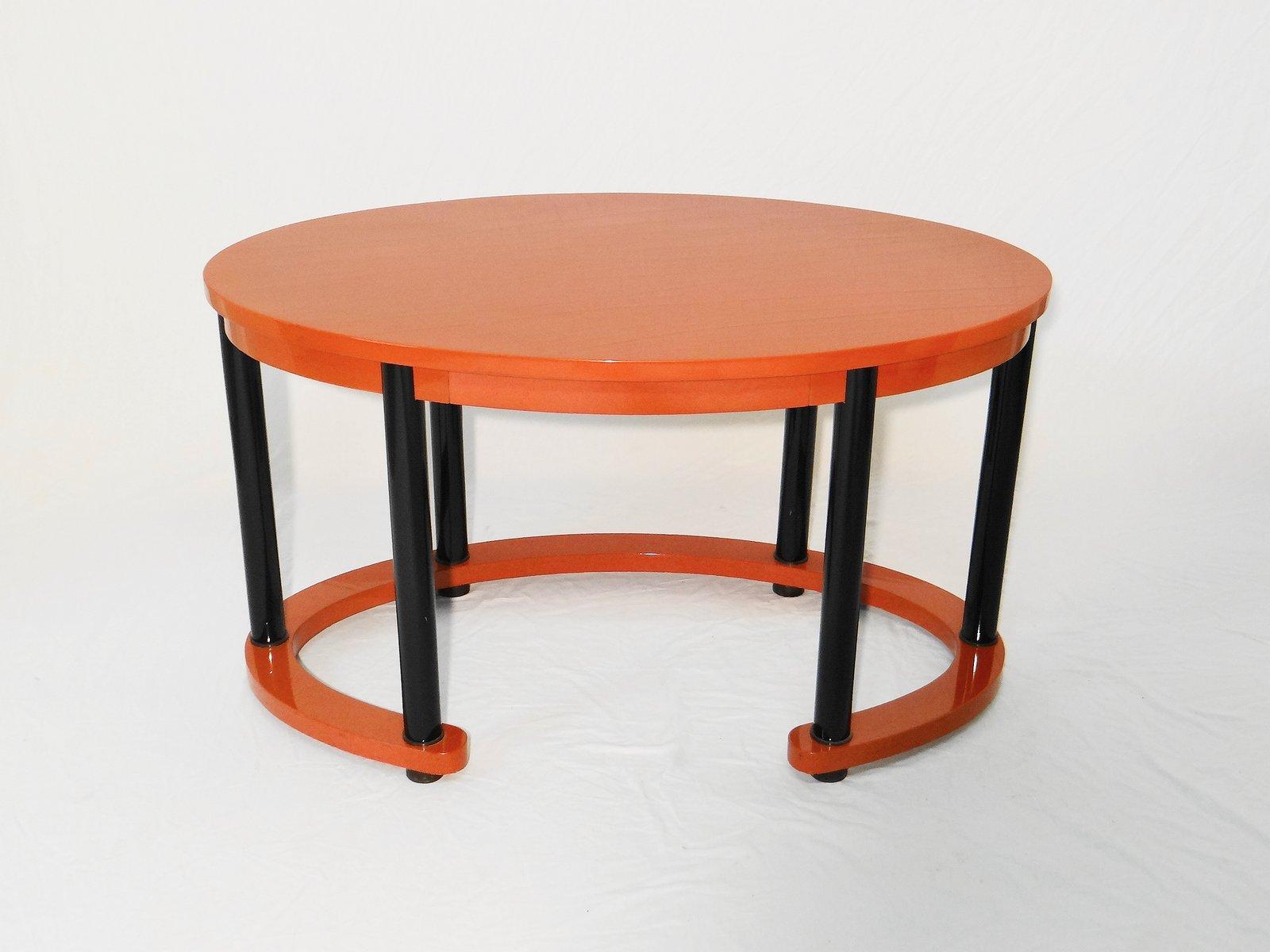 italienischer rot lackierter vintage schreibtisch bei. Black Bedroom Furniture Sets. Home Design Ideas