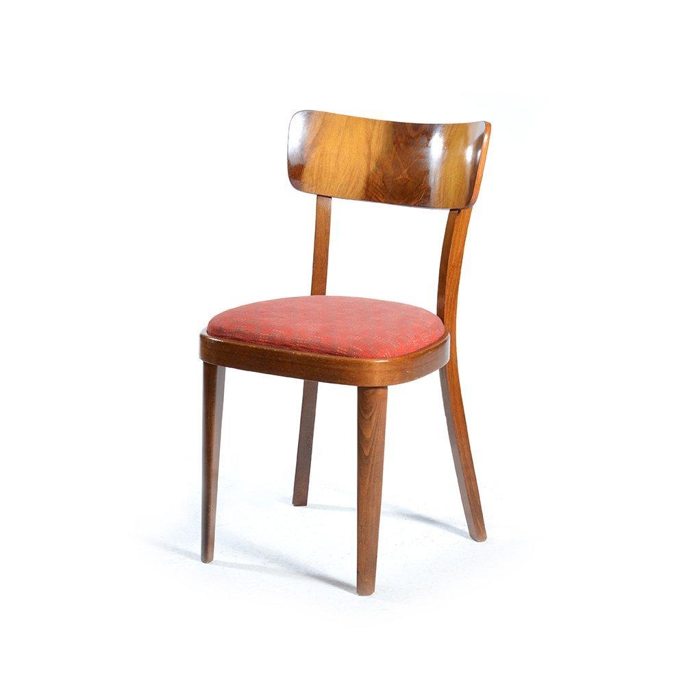 holzfurnier st hle 1950er 4er set bei pamono kaufen. Black Bedroom Furniture Sets. Home Design Ideas
