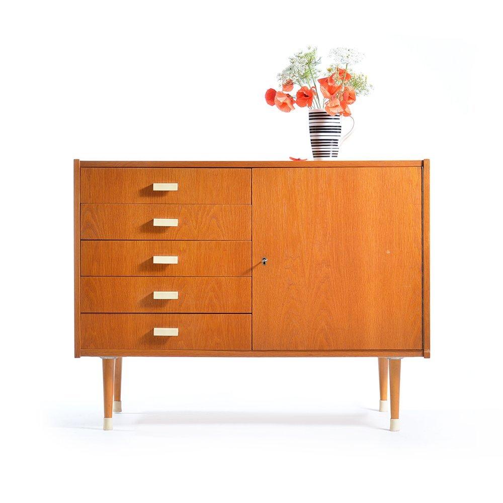 kleines sideboard mit schubladen von jitona 1960er bei pamono kaufen. Black Bedroom Furniture Sets. Home Design Ideas