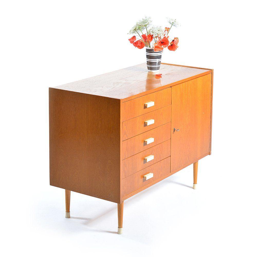 kleines sideboard mit schubladen von jitona 1960er bei. Black Bedroom Furniture Sets. Home Design Ideas
