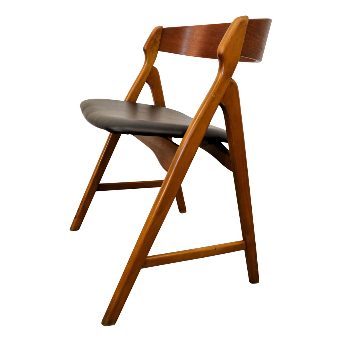 Vintage wooden dining chairs by henning kjaernulf for for Wooden dining chairs for sale