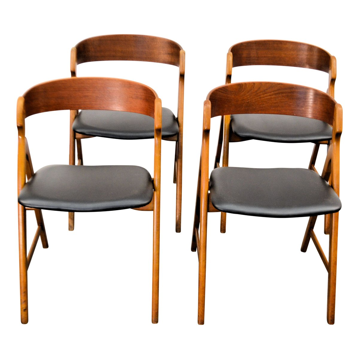 vintage holz esszimmerst hle von henning kjaernulf f r. Black Bedroom Furniture Sets. Home Design Ideas