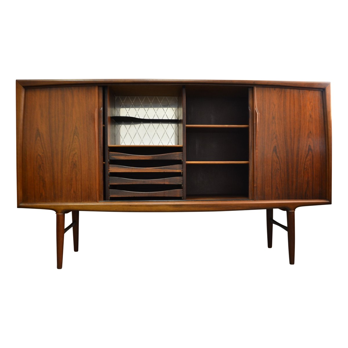 vintage palisander highboard by axel christensen odder for. Black Bedroom Furniture Sets. Home Design Ideas