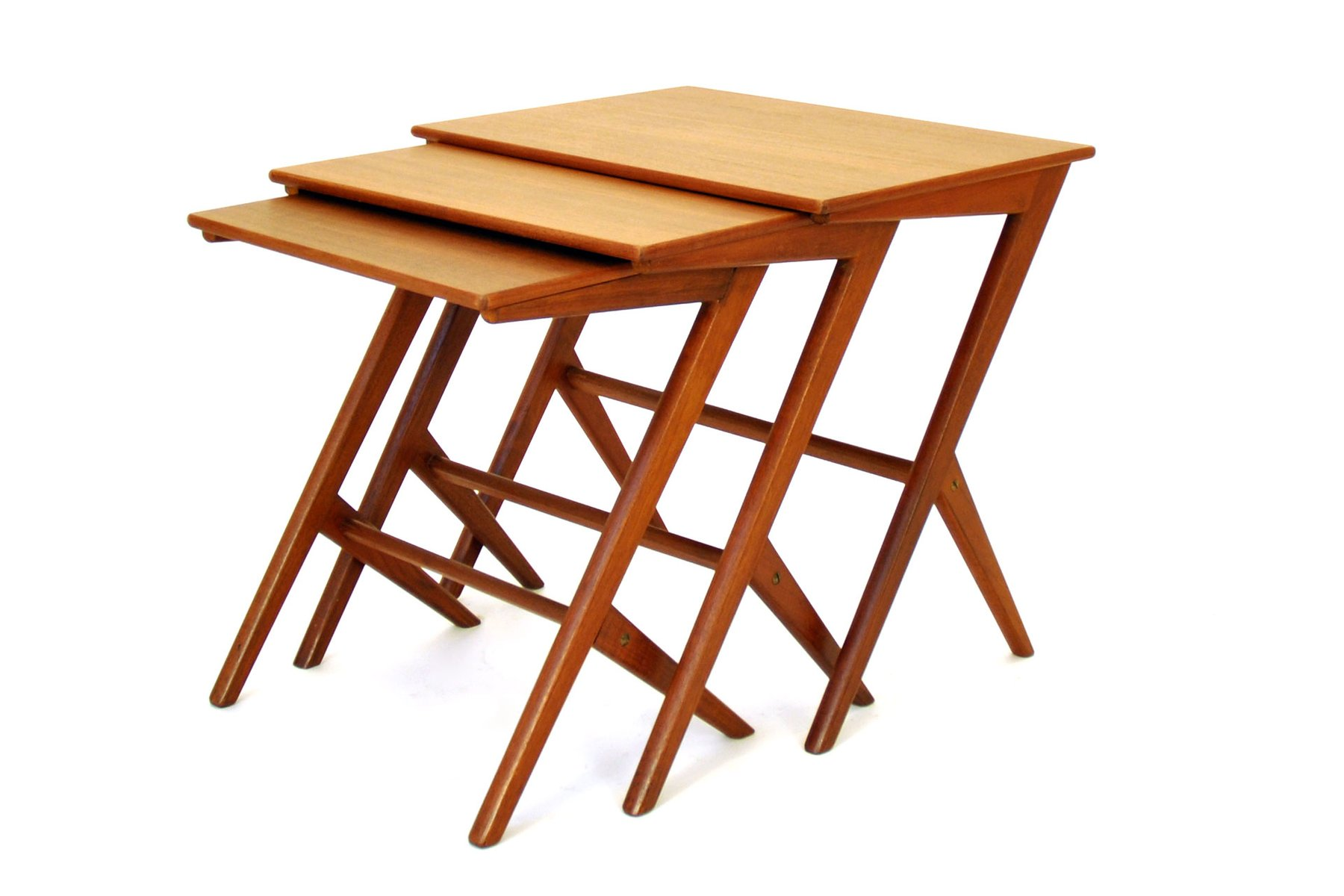 Danish Nesting Tables By Bengt Ruda, 1950s