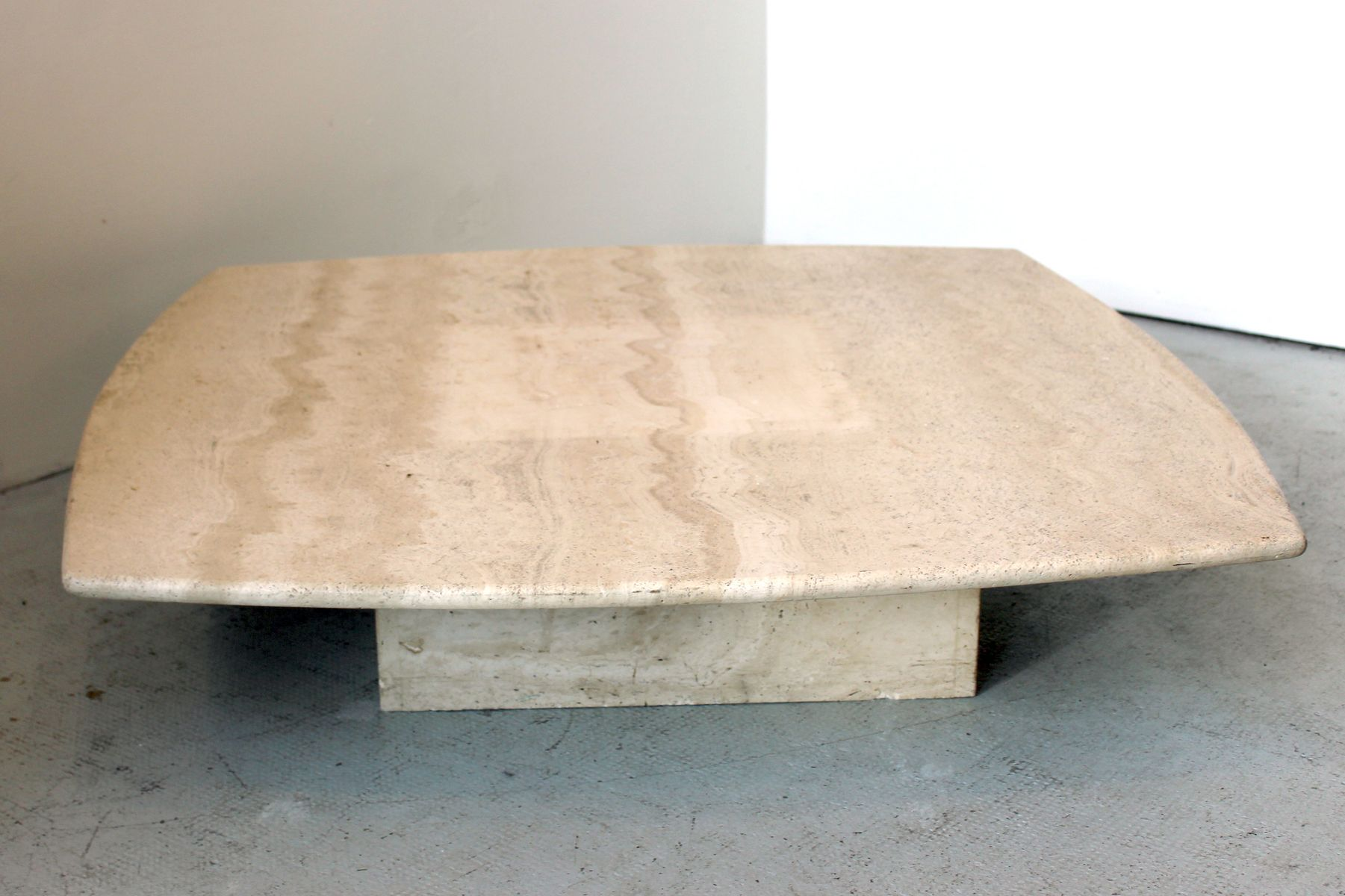 French Travertine Coffee Table 1970s for sale at Pamono