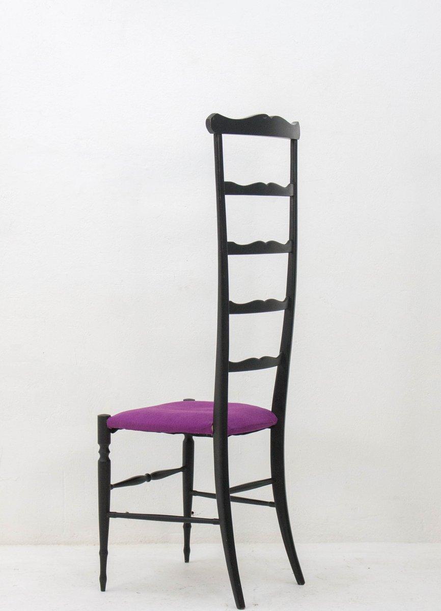stuhl mit hoher r ckenlehne von chiavari 1940er bei pamono kaufen. Black Bedroom Furniture Sets. Home Design Ideas