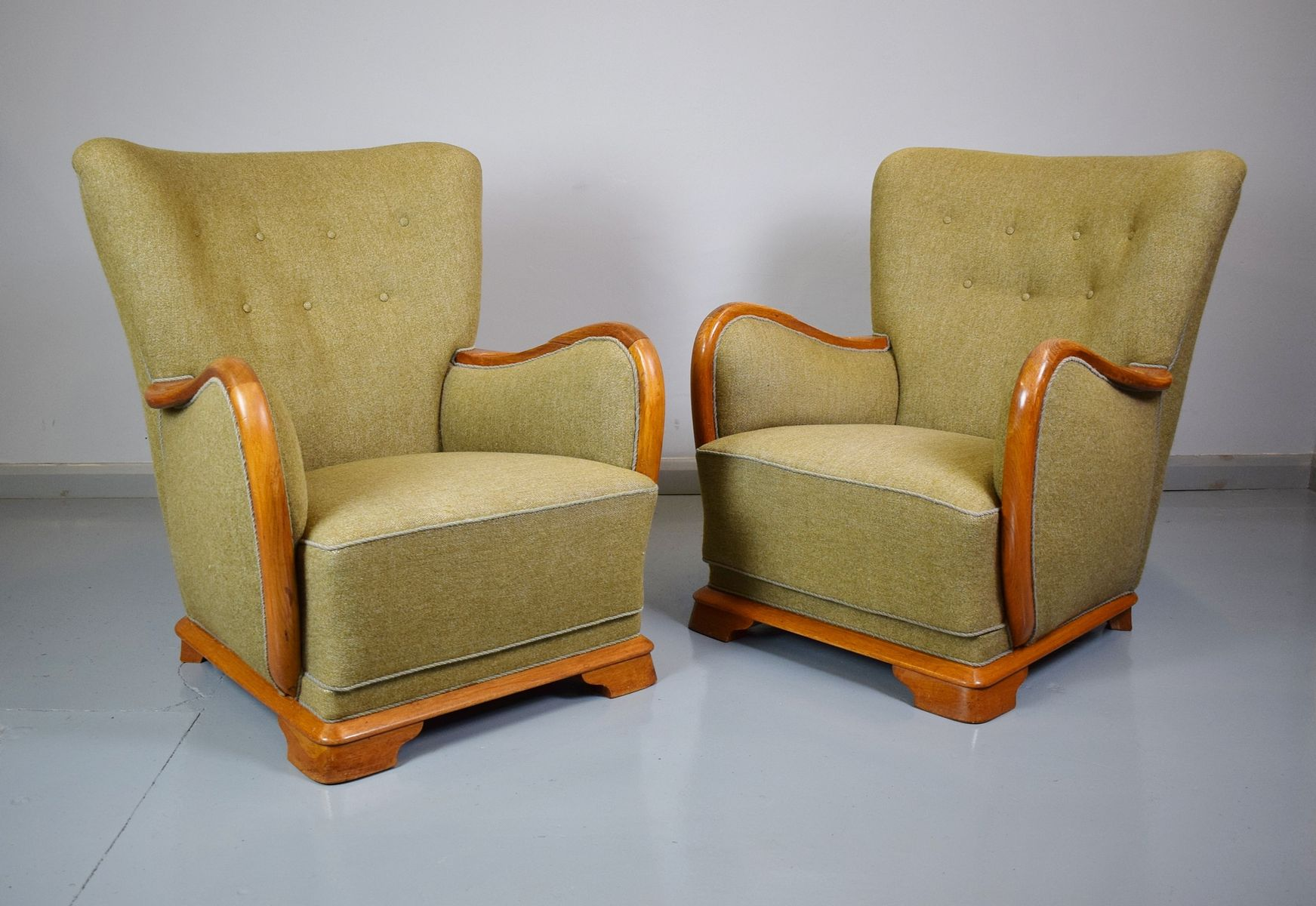 French Club Chair #30 - Vintage French Club Chair, 1940s