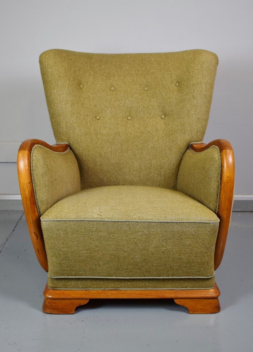 Vintage French Club Chair, 1940s For Sale At Pamono