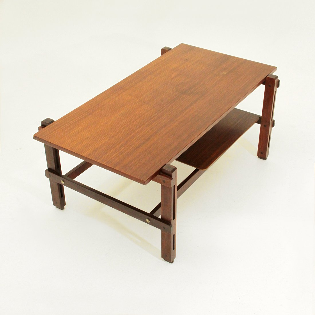 Mid-Century Italian Teak Coffee Table, 1960s For Sale At