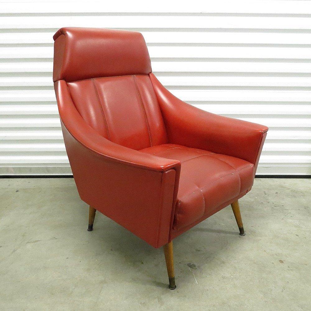 rote mid century skai sessel 1960er 2er set bei pamono kaufen. Black Bedroom Furniture Sets. Home Design Ideas