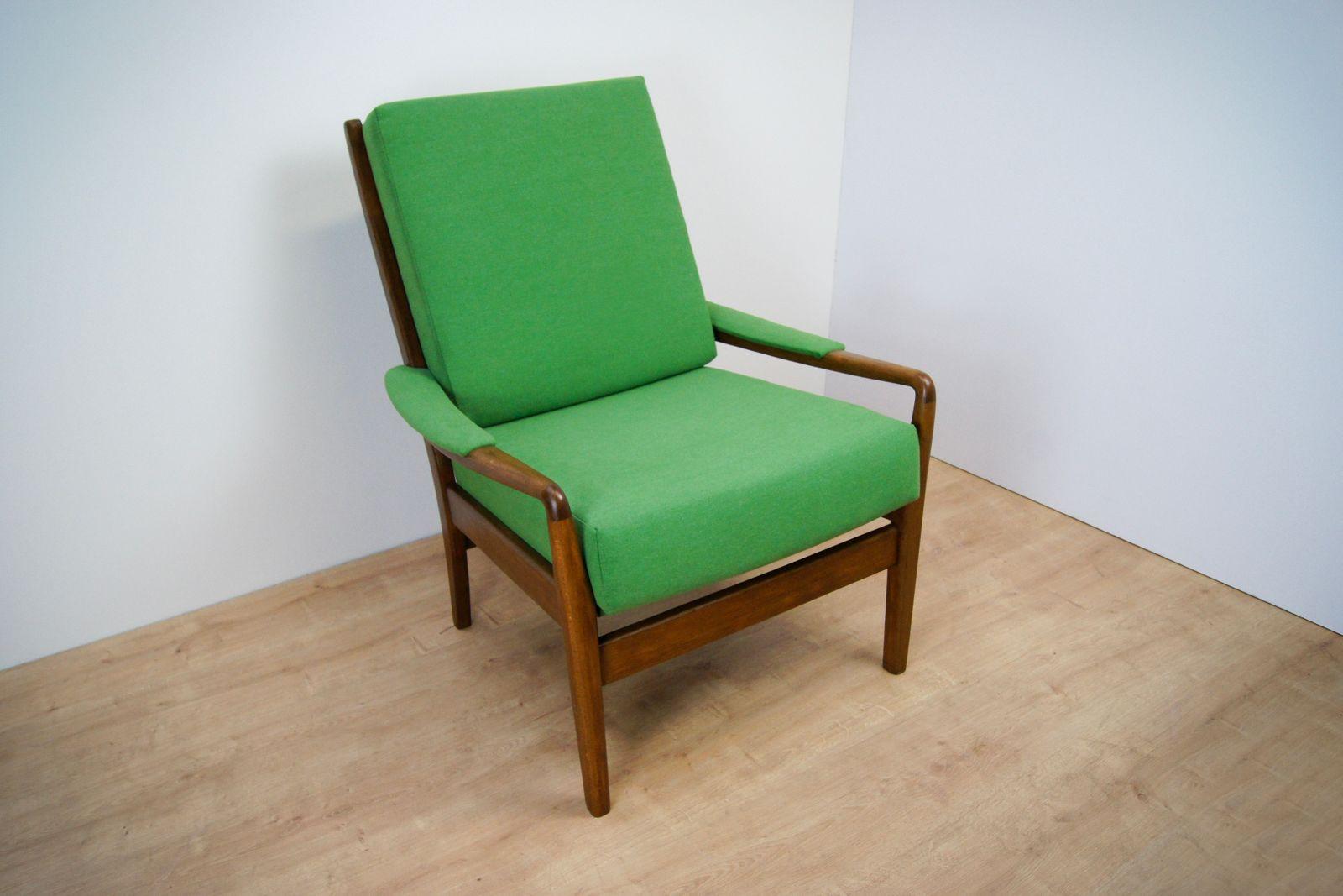 gr ner vintage sessel von parker knoll 1960er bei pamono. Black Bedroom Furniture Sets. Home Design Ideas