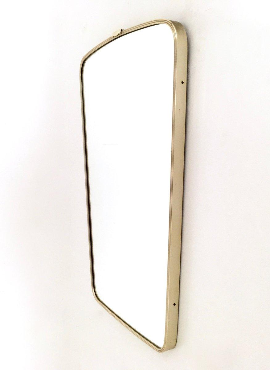 italienischer wandspiegel mit rahmen aus messing 1950er bei pamono kaufen. Black Bedroom Furniture Sets. Home Design Ideas