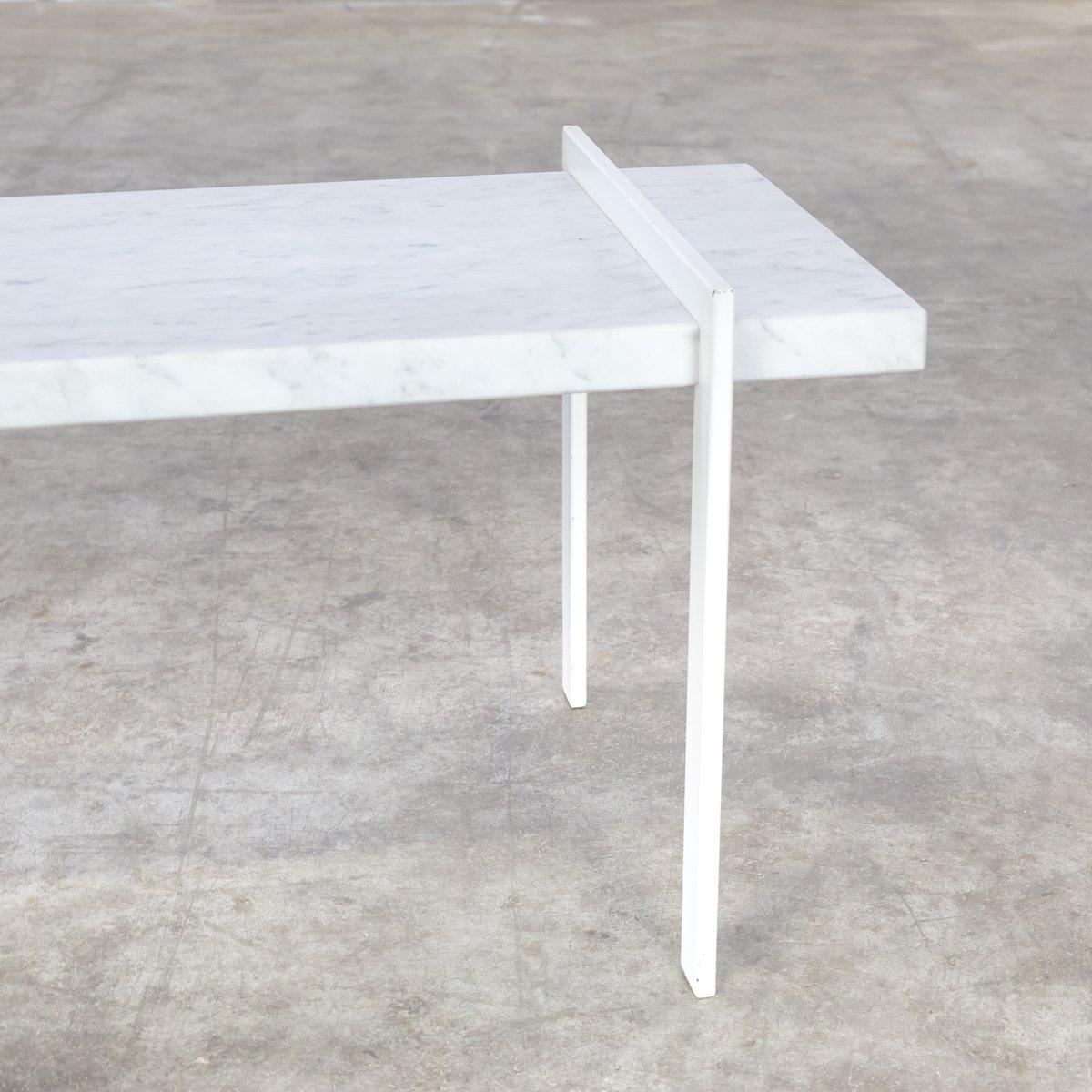 vintage beistelltisch aus metall bianco carrara marmor. Black Bedroom Furniture Sets. Home Design Ideas