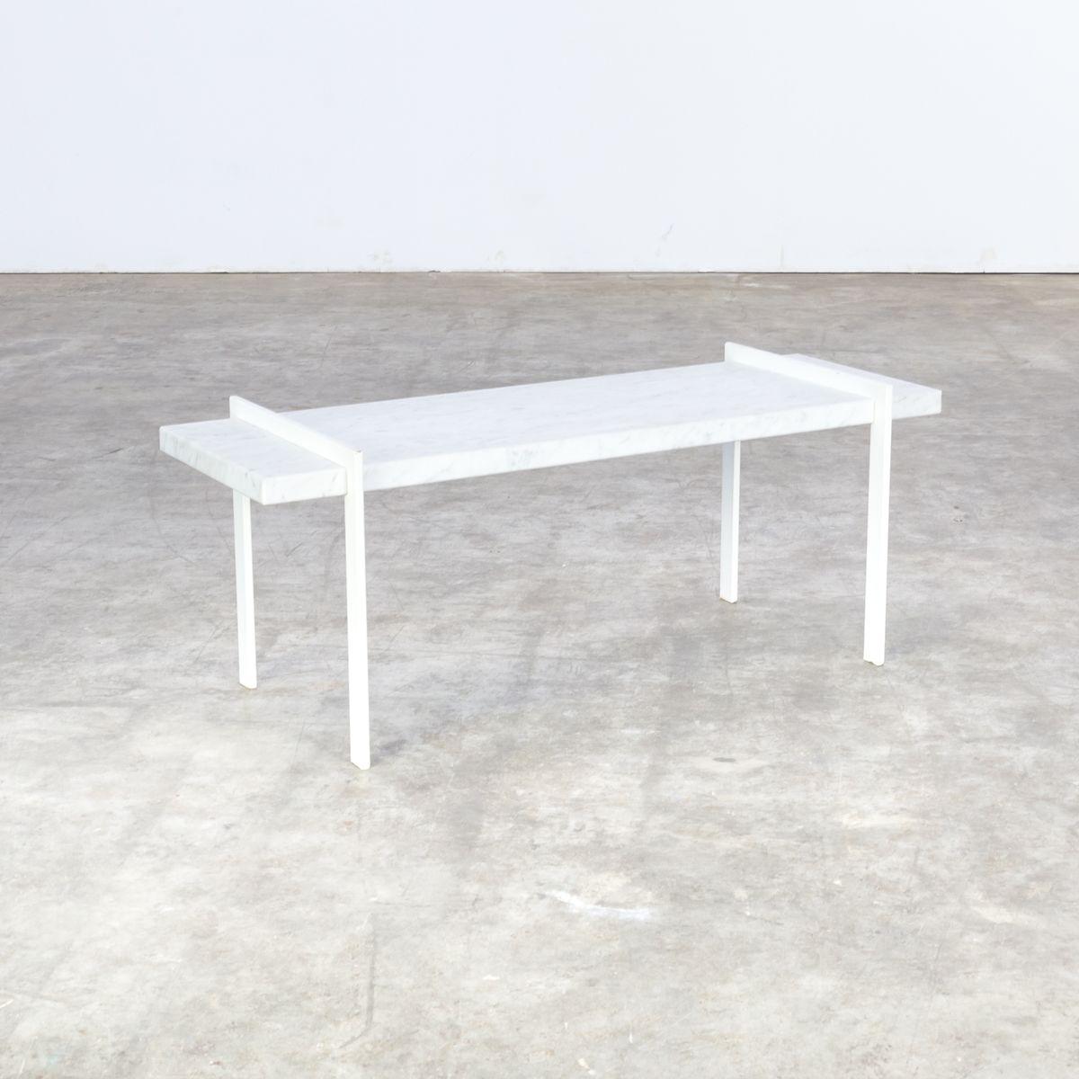 vintage beistelltisch aus metall bianco carrara marmor bei pamono kaufen. Black Bedroom Furniture Sets. Home Design Ideas