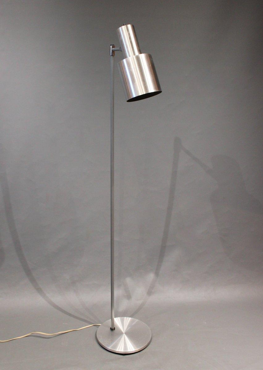 gro e mid century studio modell stehlampe aus edelstahl von jo hammerborg bei pamono kaufen. Black Bedroom Furniture Sets. Home Design Ideas