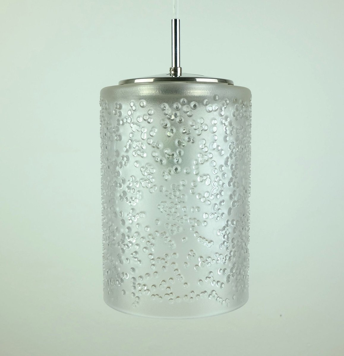 mid century glas h ngelampe von peill putzler 1960er bei pamono kaufen. Black Bedroom Furniture Sets. Home Design Ideas