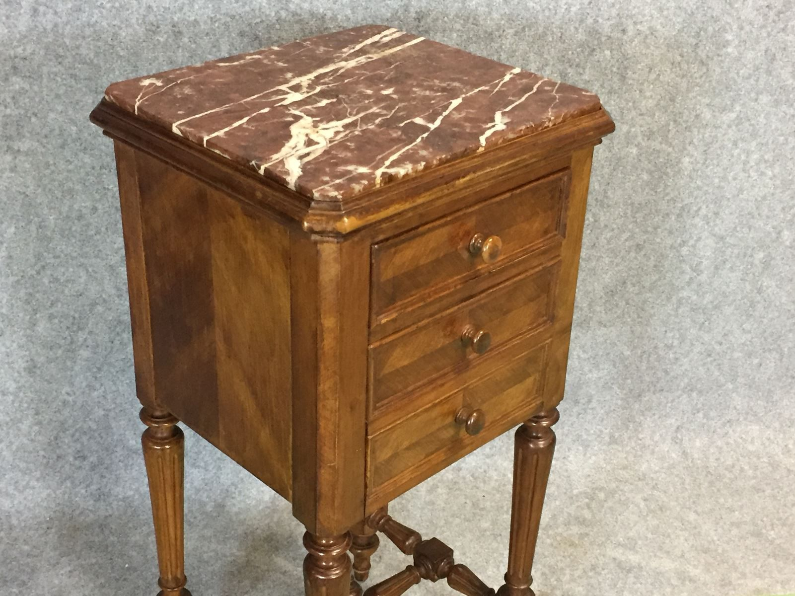 19th century louis philippe night table in walnut for sale for Table louis philippe