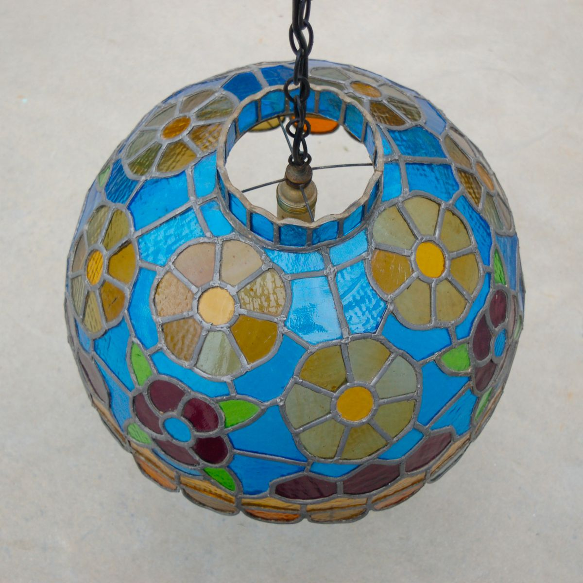 Handcrafted stained glass pendant lamp 1970s for sale at pamono handcrafted stained glass pendant lamp 1970s 3 previous aloadofball Gallery
