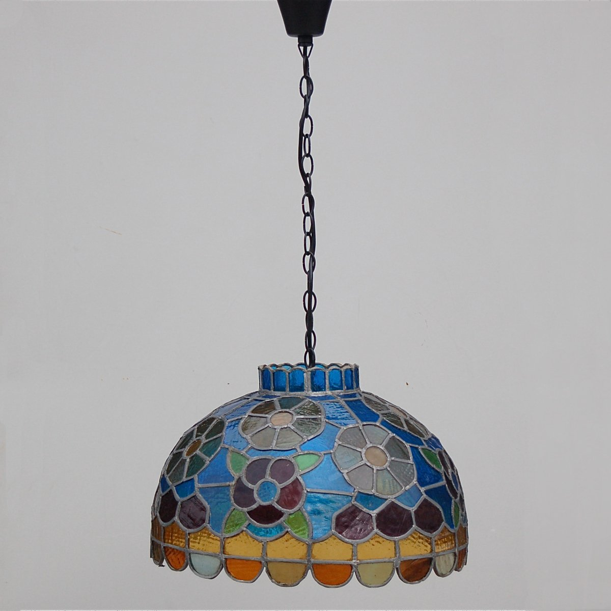 stained pendant glass pendants bowl large light belle