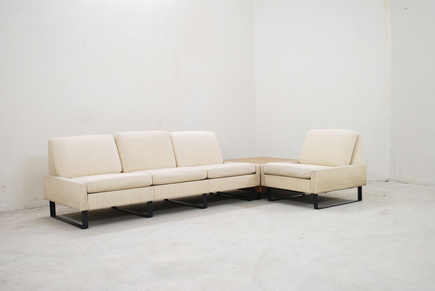 vintage conseta creme sofa ensemble from cor for sale at pamono. Black Bedroom Furniture Sets. Home Design Ideas
