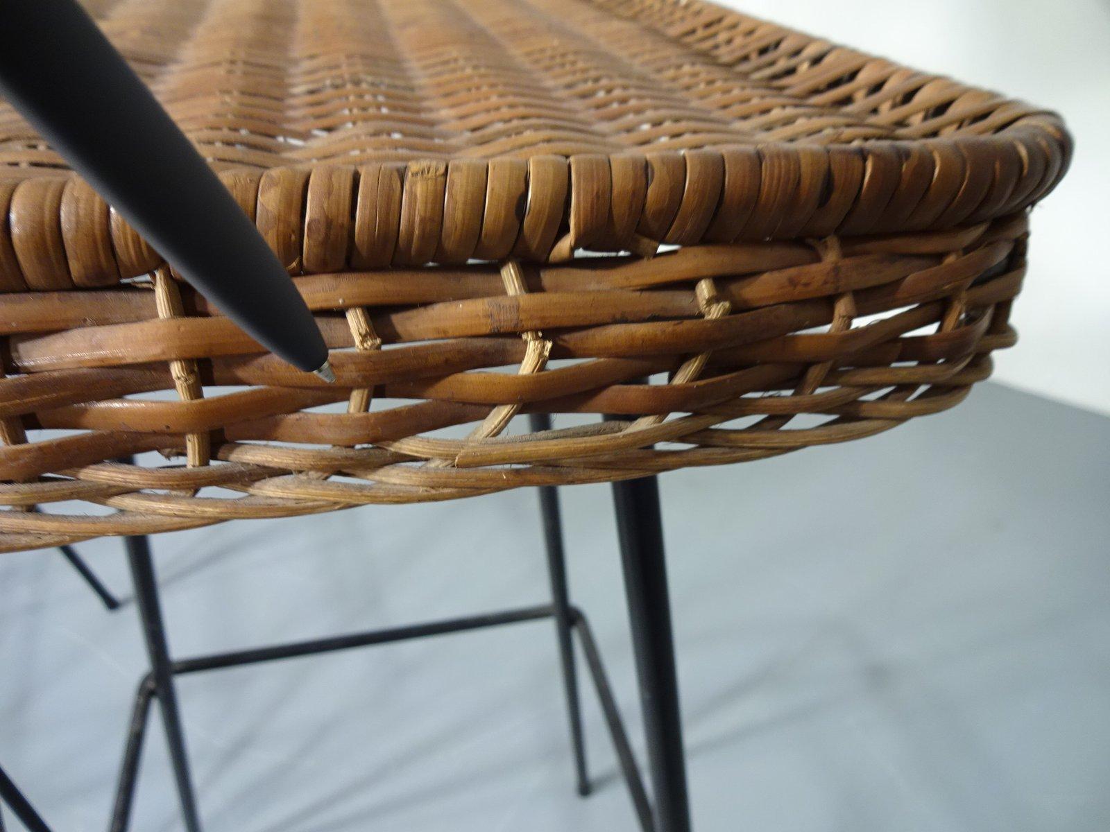 rattan barhocker 1960er 2er set bei pamono kaufen. Black Bedroom Furniture Sets. Home Design Ideas